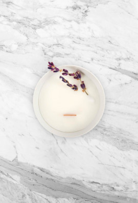Floral candle - Lavender - Small