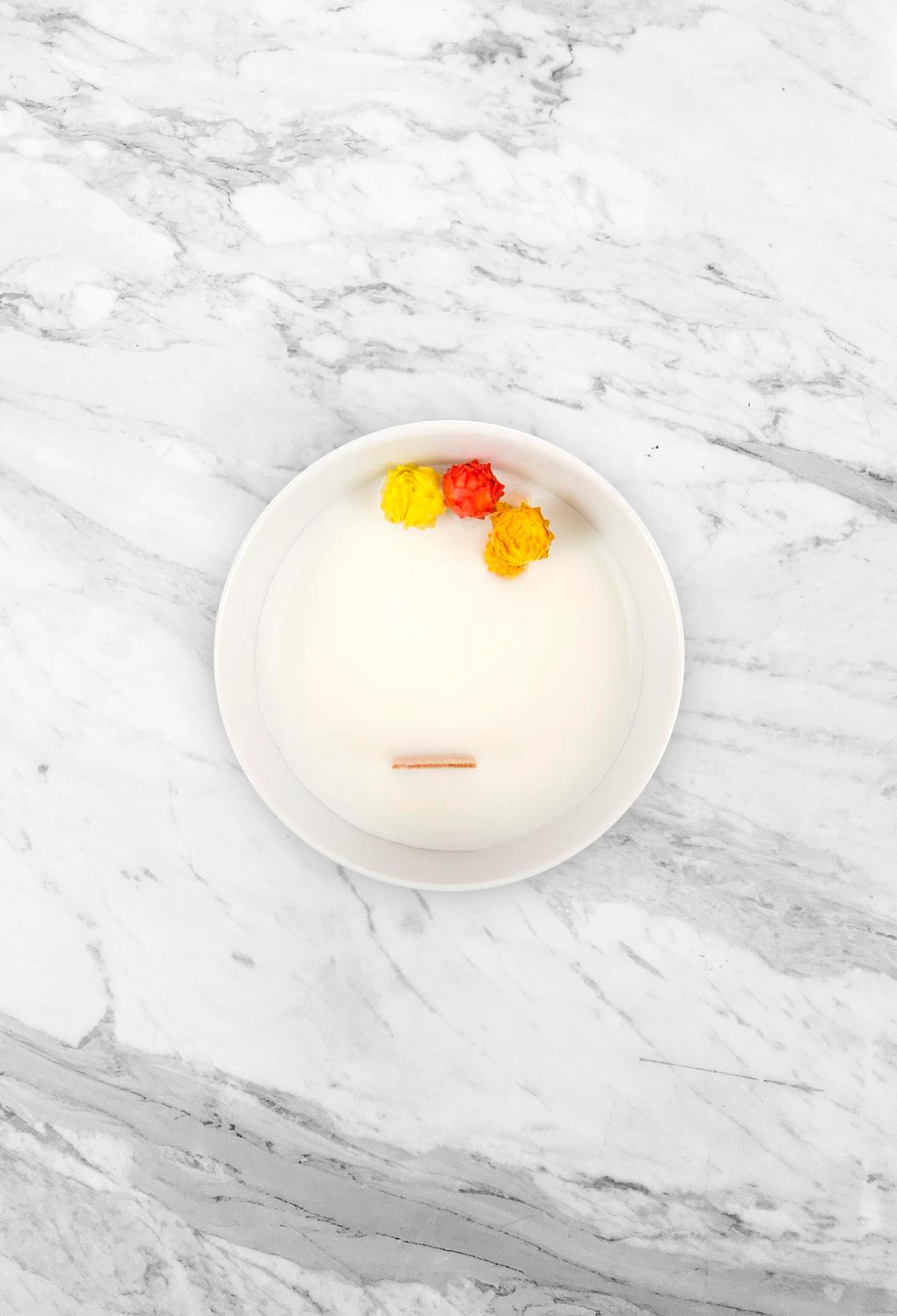 Floral candle - Citrus - Small