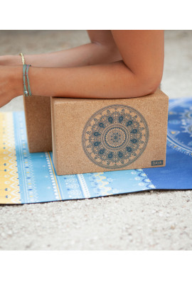 Blue Bombay yoga bricks duo