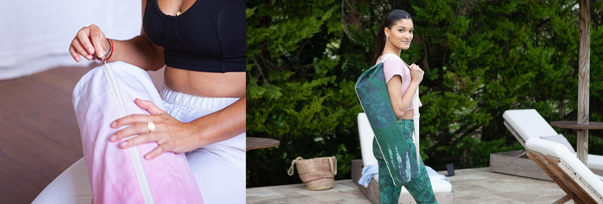 Bags and covers for yoga mats